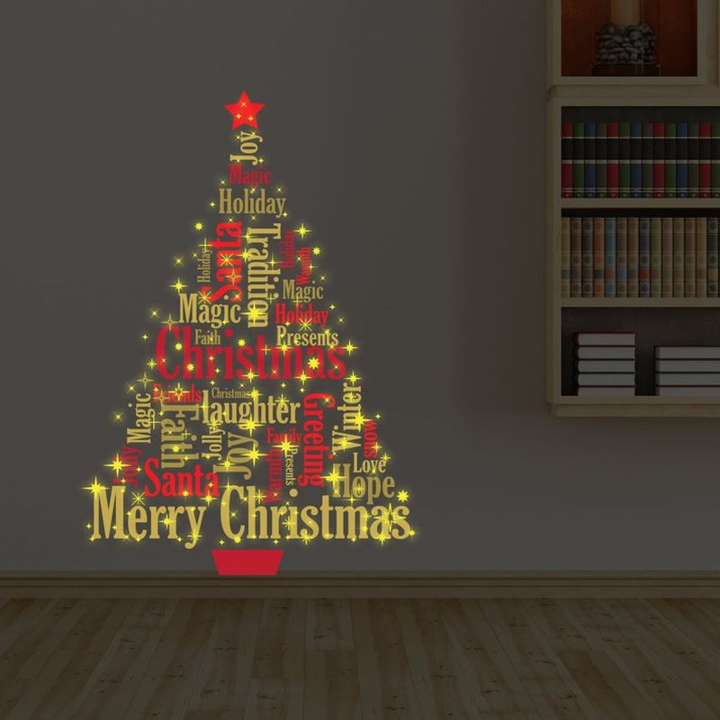 glow-in-the-dark Christmas wall decals