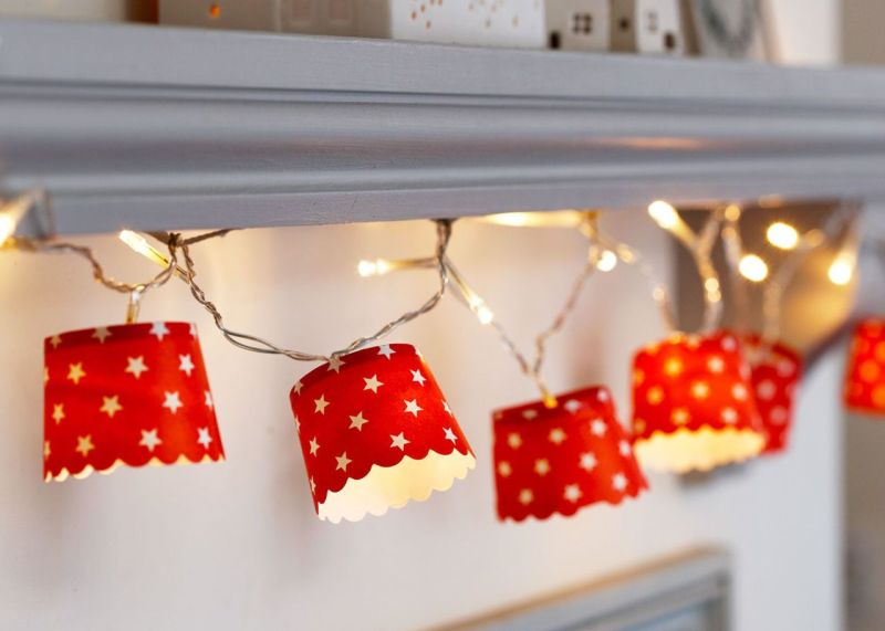 paper cup DIY Christmas garland_1