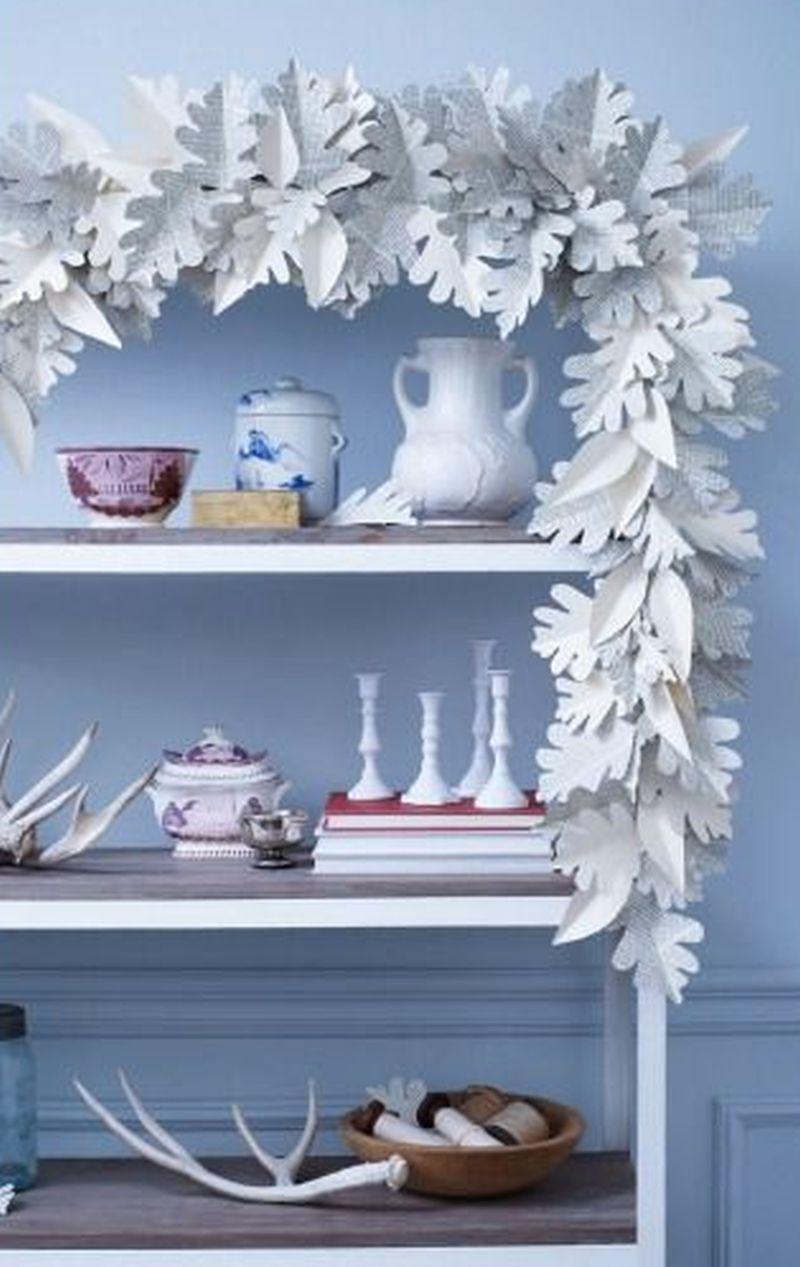paper doily DIY Christmas garland