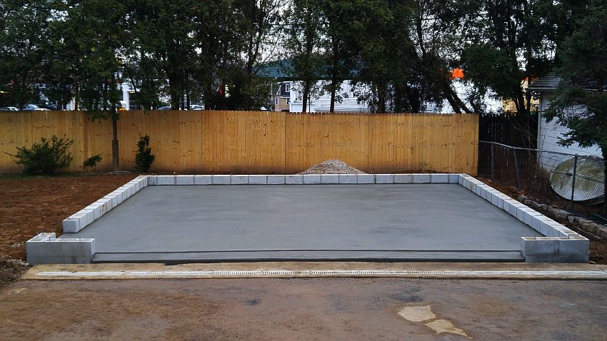 How to Create Concrete Foundation for garden shed