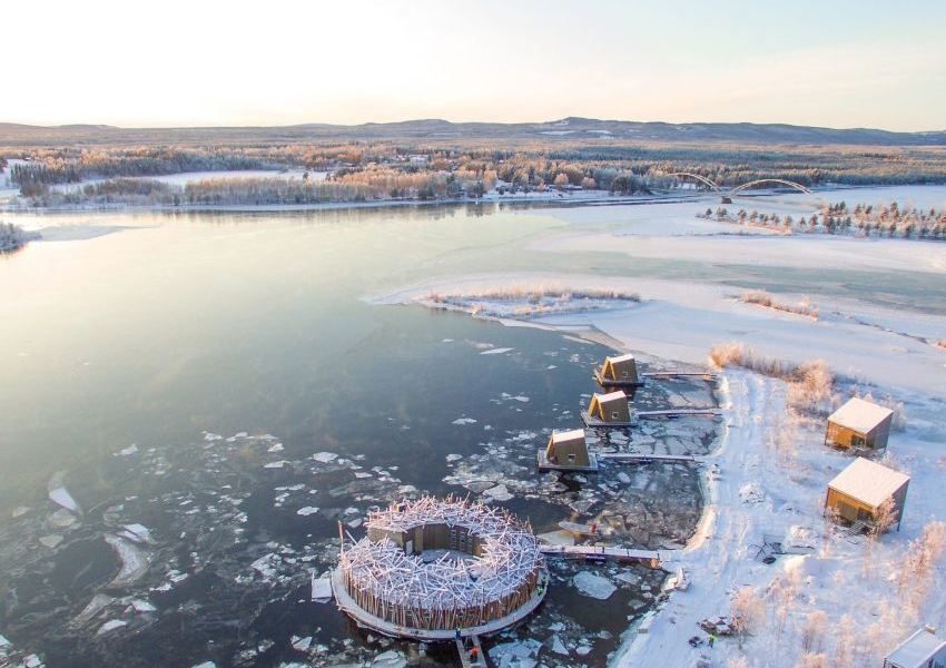 Floating Arctic Bath Hotel & Spa in Swedish Lapland in Now Open