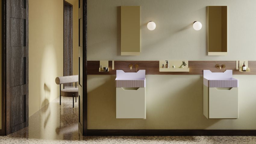 Marcante-Testa Designs Frieze Bathroom Collection for Ex.t
