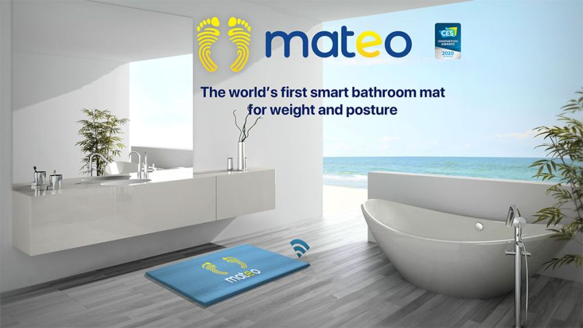 Mateo smart bathroom mat
