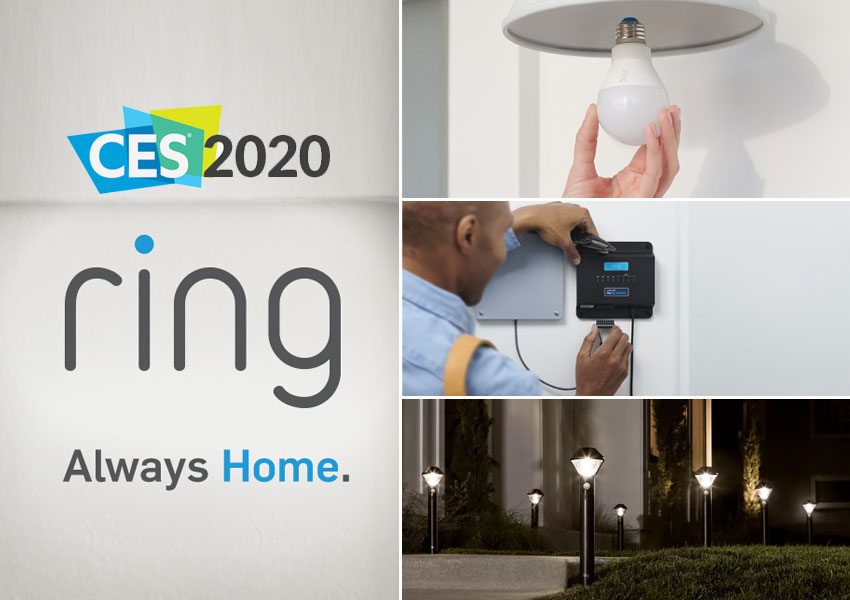 Ring Smart products showed off at CES 2020
