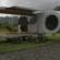 Romotow Caravan by W2 Swings its Cabin Outwards to Create a Deck