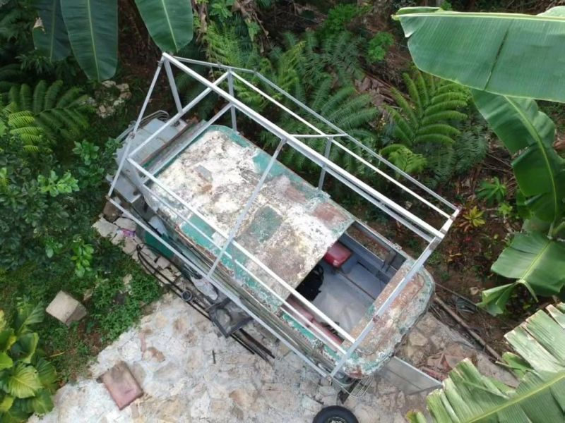 Philippines Man Transforms Old Jeepney into Two-Story Mobile Home
