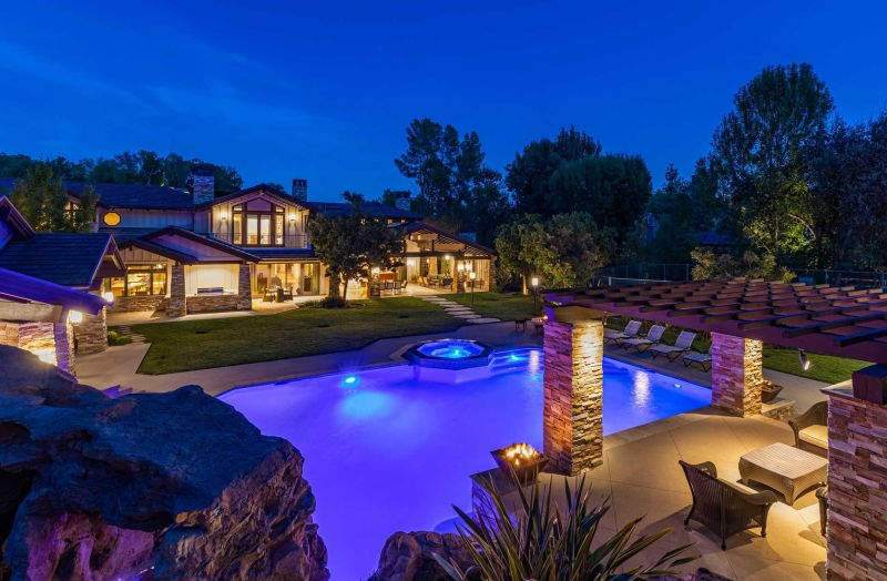 L.A. Mansion Boasts of a Star Wars-Themed Basement, Private Tennis Court & Orchard