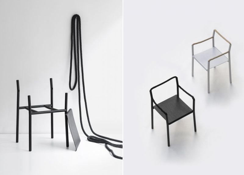 Ronan & Erwan Bouroullec Design Rope Chair for Artek