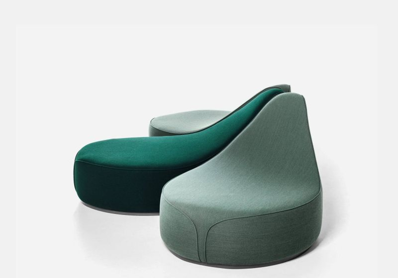 Waves Pouf Collection by Constance Guisset